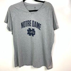 Adidas Notre Dame shirt women's 2XL
